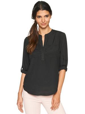 Блузка TOM TAILOR. Цвет: черный