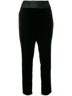 Бархатные брюки с завышенной талией Alexandre Vauthier. Цвет: чёрный