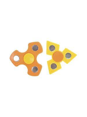 Комплект (Спиннер - 2 шт.) Happy Charms Family. Цвет: желтый, оранжевый, серебристый