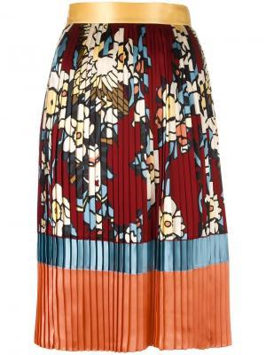 Плиссированная юбка Cherry Blossom Dsquared2. Цвет: красный