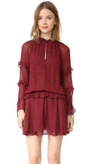 Платье с подчеркнутой талией Intropia. Цвет: винный