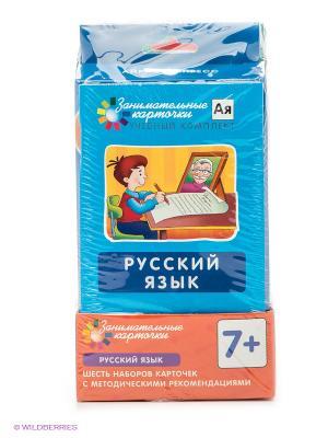 Комплект из 6 наборов карточек с картинками Русский язык АЙРИС-пресс. Цвет: коричневый, зеленый, красный, фиолетовый