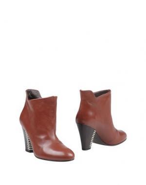 Полусапоги и высокие ботинки MEGUMI OCHI. Цвет: кирпично-красный
