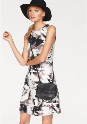 Платье BRUNO BANANI. Цвет: в цветочек/бирюзовый/синий, в цветочек/черный/белый, в цветочек/черный/розовый