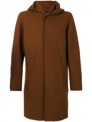 Hooded coat Hevo. Цвет: коричневый