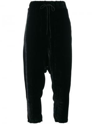 Укороченные бархатные брюки Federica Tosi. Цвет: чёрный
