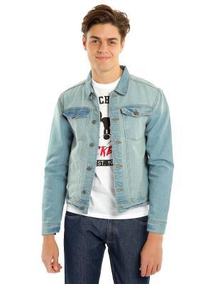 Джинсовая куртка ТВОЕ. Цвет: голубой