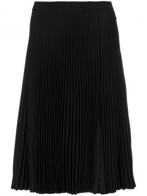 Плиссированная юбка миди Versace. Цвет: чёрный