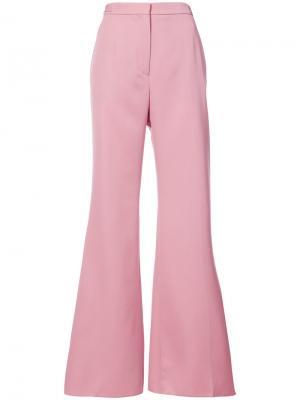 Расклешенные брюки Rochas. Цвет: розовый и фиолетовый