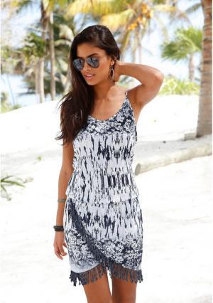 Пляжное платье Buffalo. Цвет: абрикосовый, бирюзовый, серый с рисунком, черный