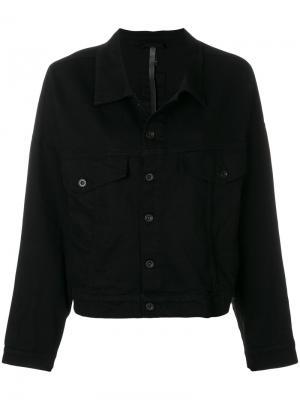 Джинсовая куртка свободного кроя Barbara I Gongini. Цвет: чёрный