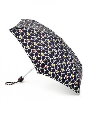 Зонт механический Цветы  by Fulton Orla Kiely. Цвет: черный