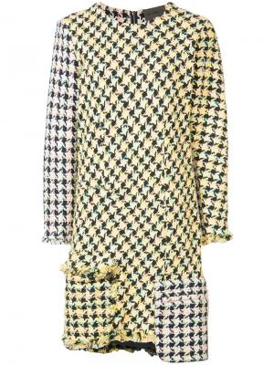 Платье с накладными карманами Les Animaux. Цвет: жёлтый и оранжевый