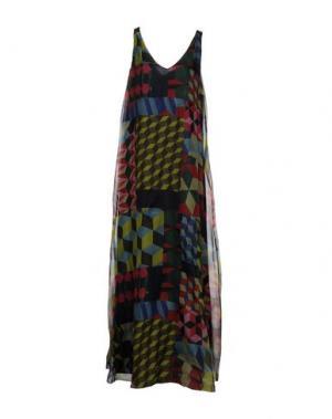 Длинное платье ATTIC AND BARN. Цвет: кислотно-зеленый