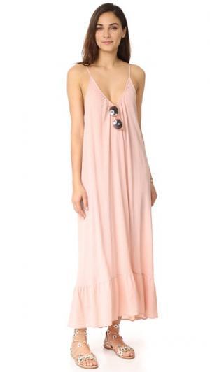 Макси-платье Paloma 9seed. Цвет: «пыльный» розовый