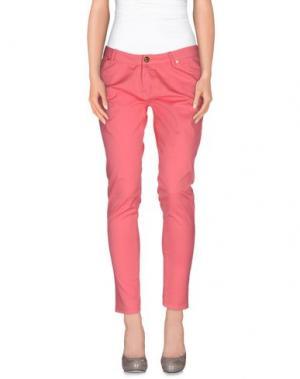 Повседневные брюки MAISON ESPIN. Цвет: лососево-розовый
