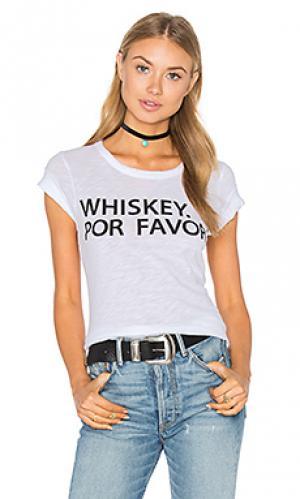 Футболка whiskey por favor Chaser. Цвет: белый