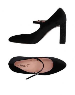 Туфли ANNA F.. Цвет: черный