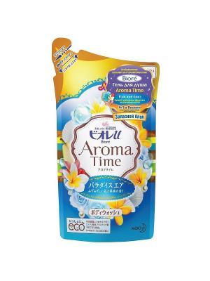 Гель для душа AROMA TIME Райский Бриз Запасной блок, 360мл Biore. Цвет: прозрачный