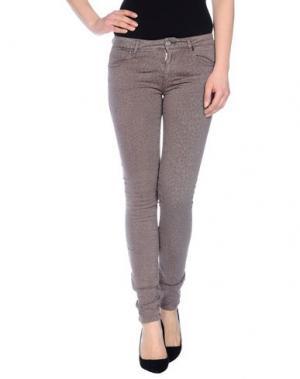 Джинсовые брюки FAIRLY. Цвет: коричневый