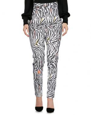 Повседневные брюки SONIA DE NISCO. Цвет: белый