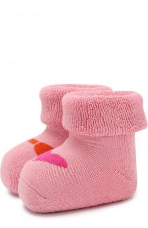 Хлопковые носки с принтом Falke. Цвет: розовый