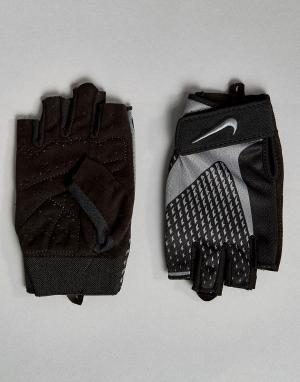 Nike Training Серые перчатки Core Lock LG.38-032. Цвет: серый
