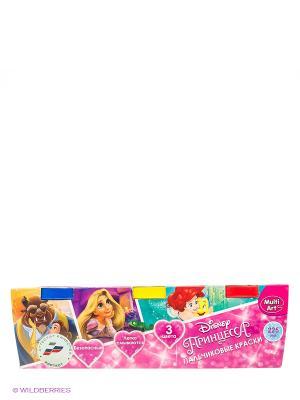 Пальчиковые краски Multi Art принцессы disney. 3 цвета Multiart. Цвет: розовый