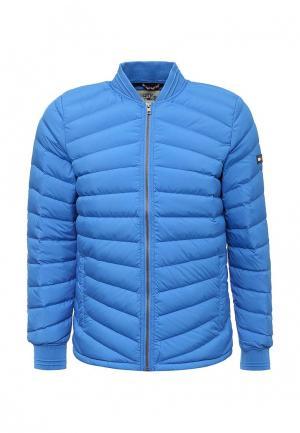Куртка утепленная Tommy Hilfiger Denim. Цвет: голубой