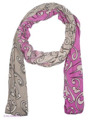 Платок Fabretti. Цвет: розовый, серый