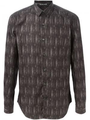 Рубашка в принт Vangher. Цвет: чёрный
