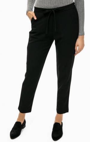 Черные зауженные брюки ICHI. Цвет: черный