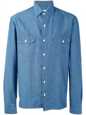 Рубашка Old America Salvatore Piccolo. Цвет: синий