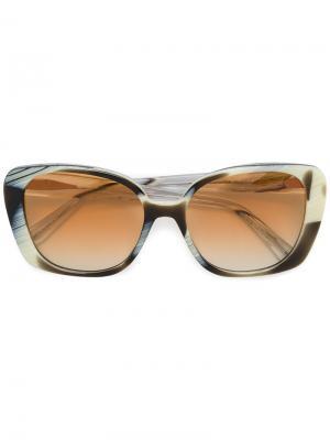 Объемные солнцезащитные очки Prism. Цвет: коричневый