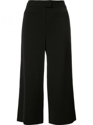 Широкие укороченные брюки Veronica Beard. Цвет: чёрный