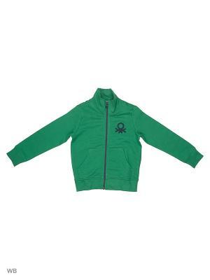 Толстовка United Colors of Benetton. Цвет: зеленый, желтый