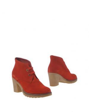 Полусапоги и высокие ботинки GIONATA. Цвет: красный