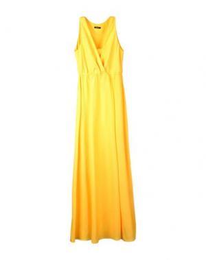 Длинное платье HANITA. Цвет: желтый