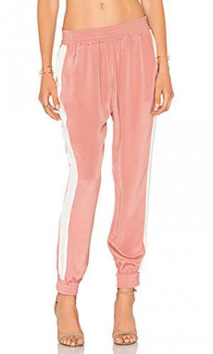 Шелковые брюки LAcademie L'Academie. Цвет: розовый