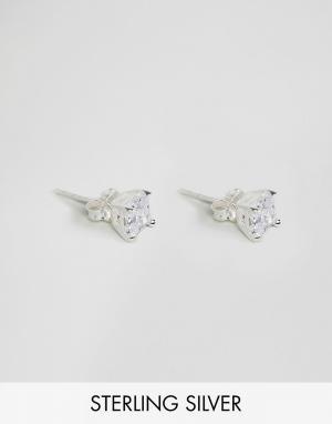 ASOS Серебряные серьги‑гвоздики со стразами. Цвет: серебряный