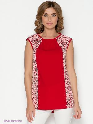 Блузка Vaide. Цвет: красный