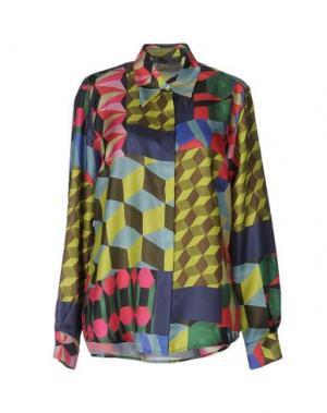 Pубашка ATTIC AND BARN. Цвет: кислотно-зеленый