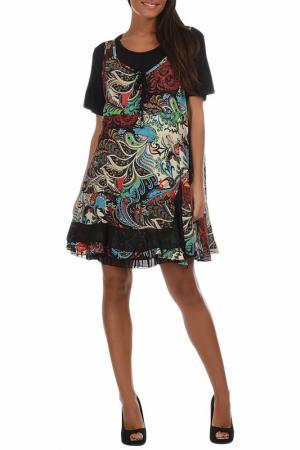 Платье Pomme rouge. Цвет: мультицвет