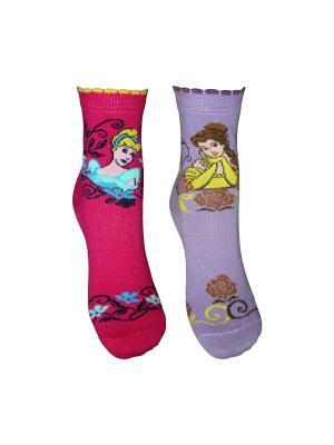 Носки 2 пары Master Socks. Цвет: малиновый, сиреневый