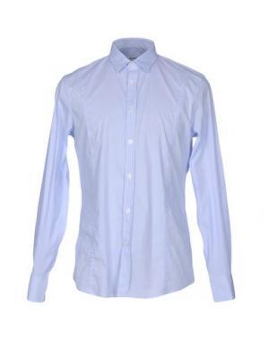 Pубашка BIKKEMBERGS. Цвет: небесно-голубой