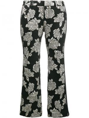Гофрированные брюки с узором Faith Connexion. Цвет: чёрный