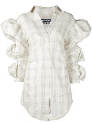 Рубашка с пышными рукавами Jacquemus. Цвет: телесный