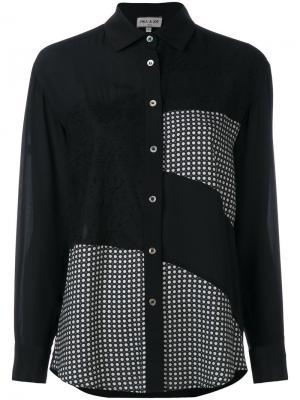 Рубашка лоскутного кроя Paul & Joe. Цвет: чёрный