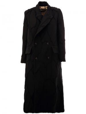 Однобортное пальто Uma Wang. Цвет: чёрный