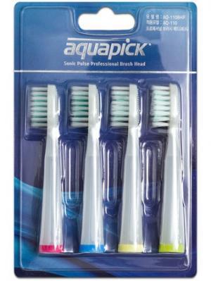 Насадки для электрической зубной щетки AQ-110BHP, 4 шт., Aquapick. Цвет: прозрачный
